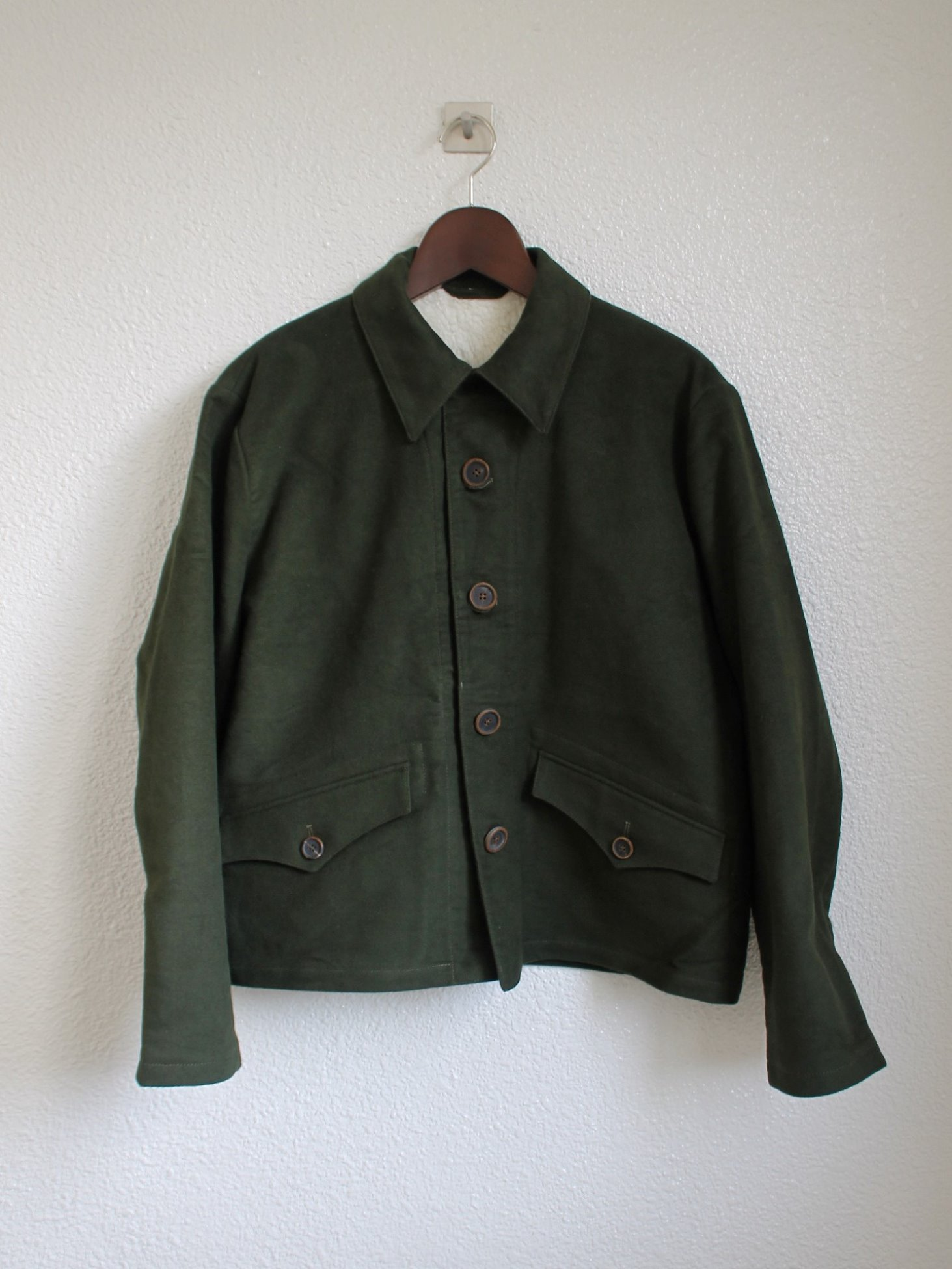 [An Irrational Element] Short Army Jacket - Olive Moleskin