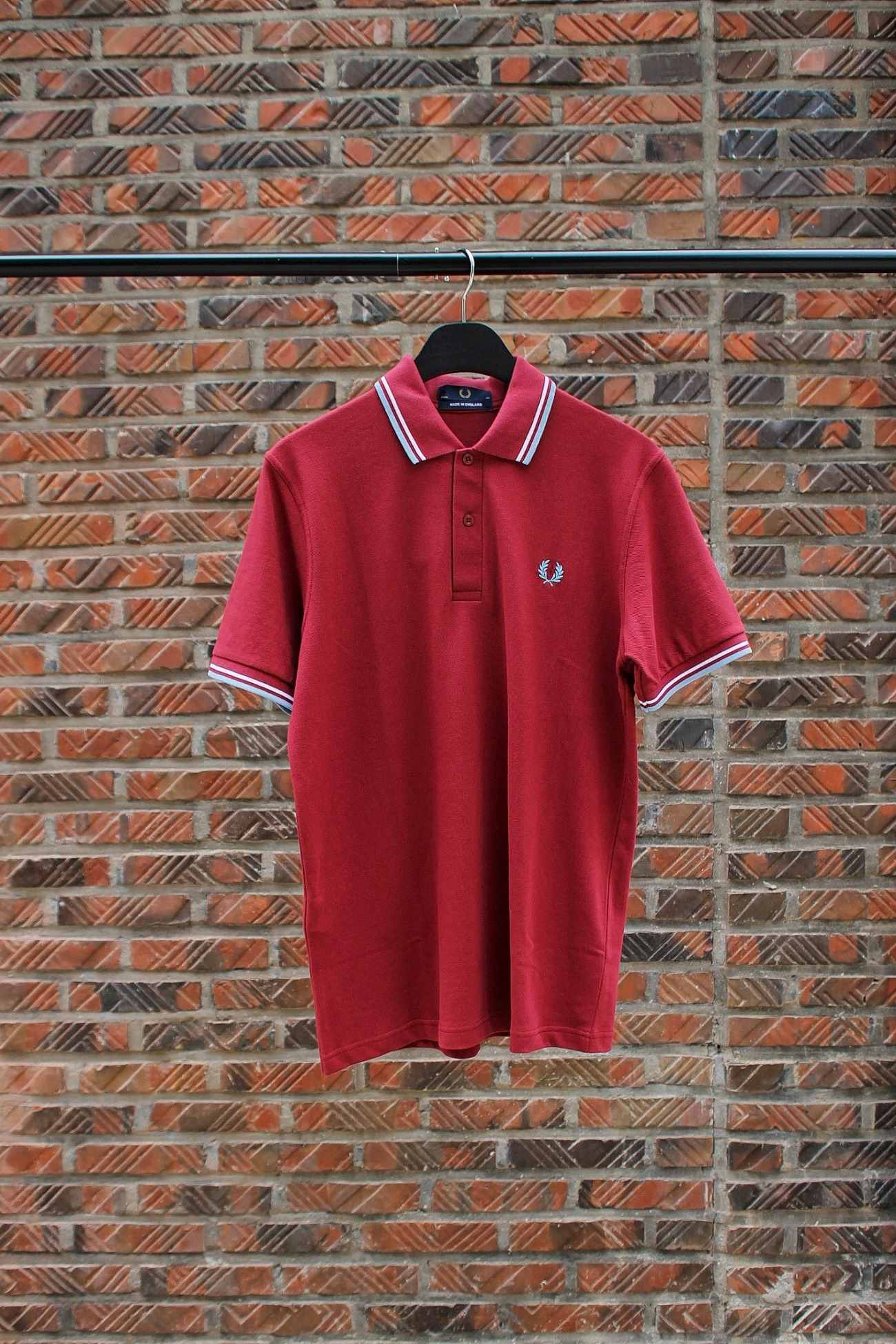 [FRED PERRY] Twin Tipped Fred Perry Shirt (Re-Issues) - Maroon
